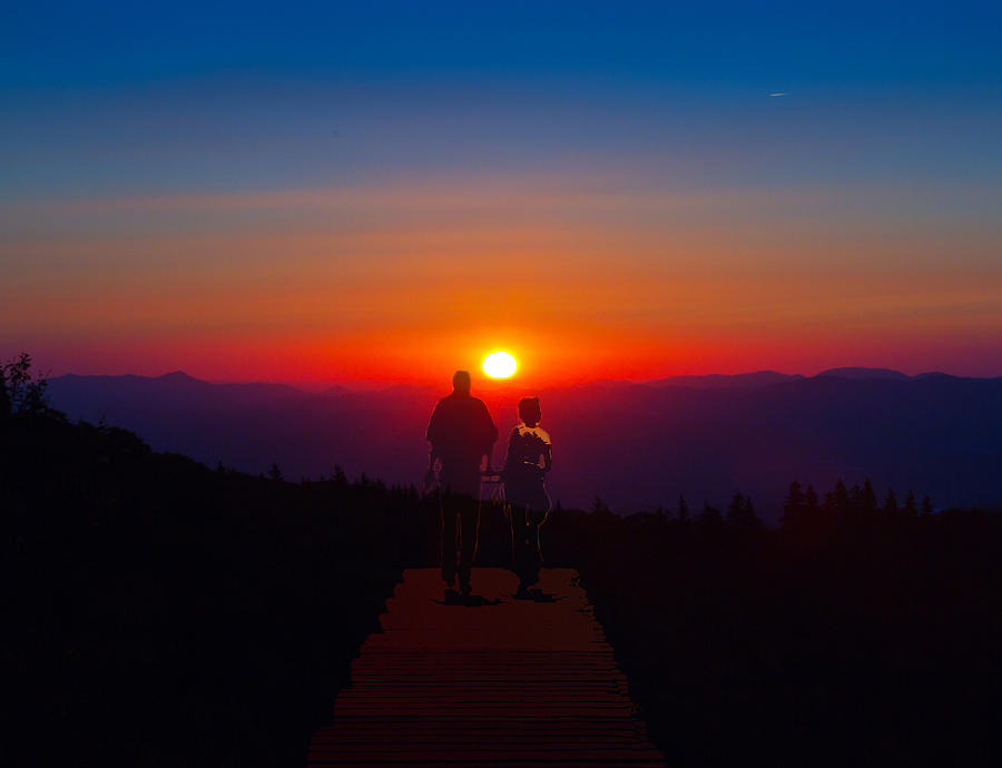 Into The Sunset Together Photograph
