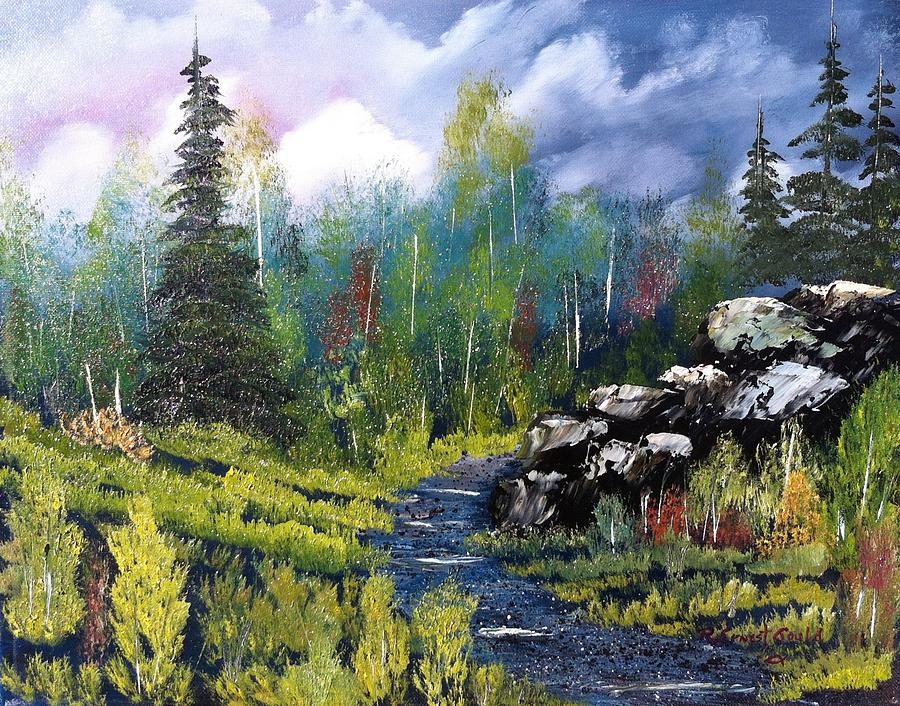 Into The Wilderness Painting  - Into The Wilderness Fine Art Print