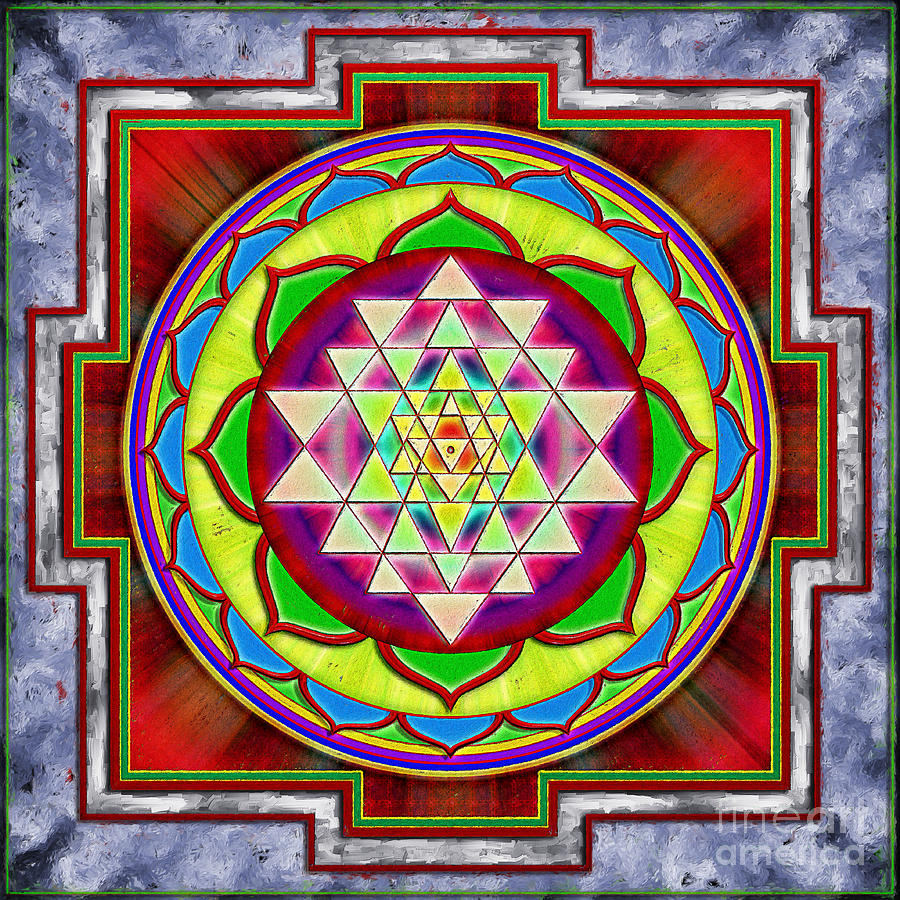 Intuition Sri Yantra I Digital Art  - Intuition Sri Yantra I Fine Art Print