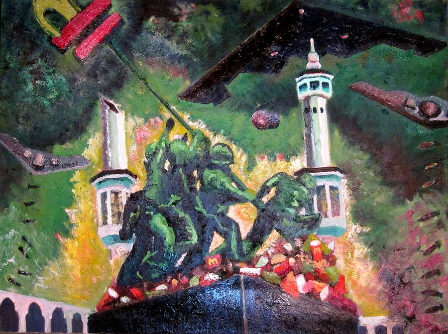 Invading Mecca Painting