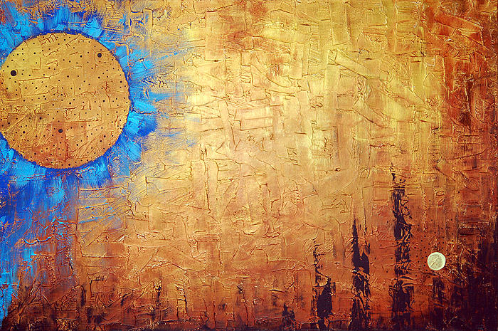 Invisible Blue Sun Painting  - Invisible Blue Sun Fine Art Print