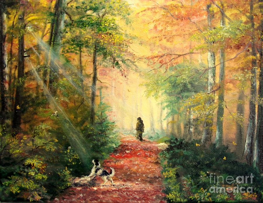 Invitation To Walk   Painting  - Invitation To Walk   Fine Art Print