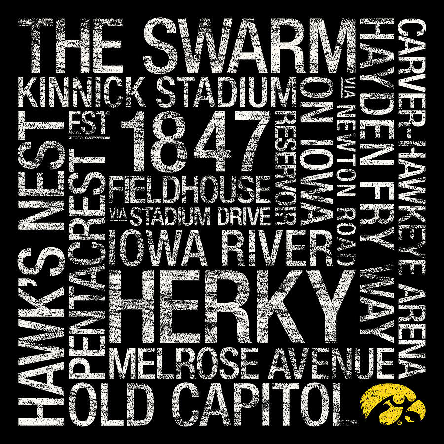 Photo Photograph - Iowa College Colors Subway Art by Replay Photos