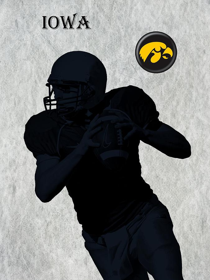Iowa Football  Digital Art  - Iowa Football  Fine Art Print