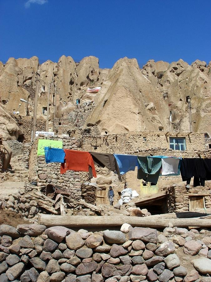 Iran Kandovan Stone Village Laundry Photograph by Lois Ivancin Tavaf