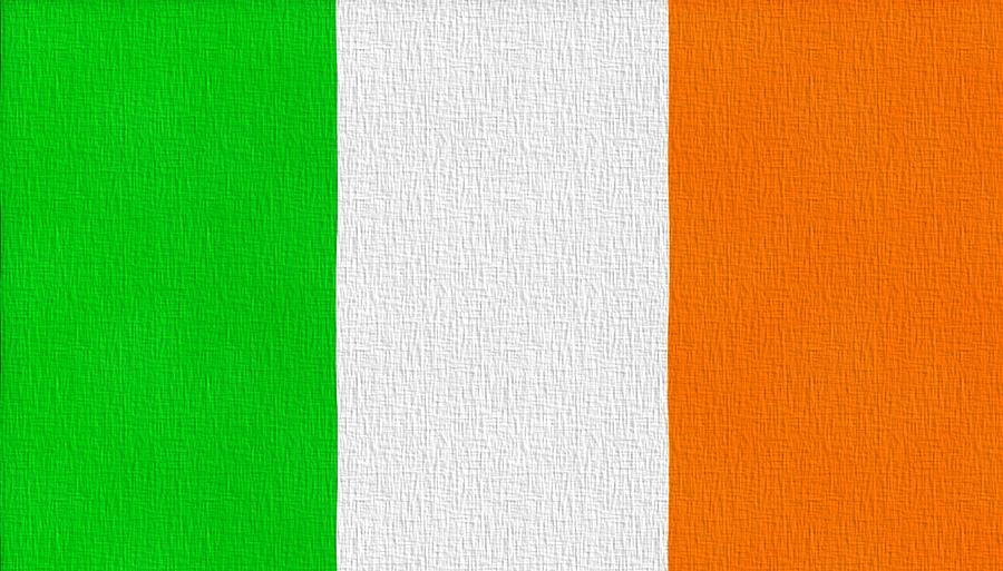 Ireland Flag Painting - Ireland Flag by Dan Sproul