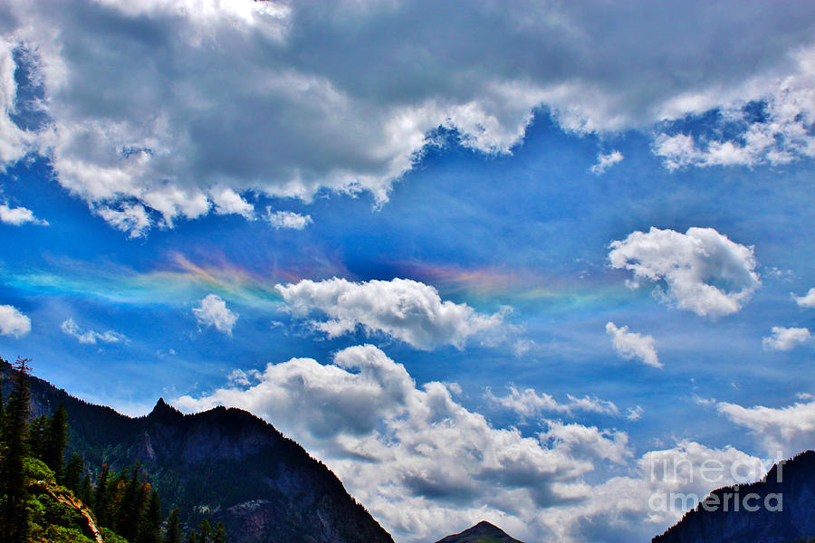 Iridescent Cloud Formations Over Ouray Photograph