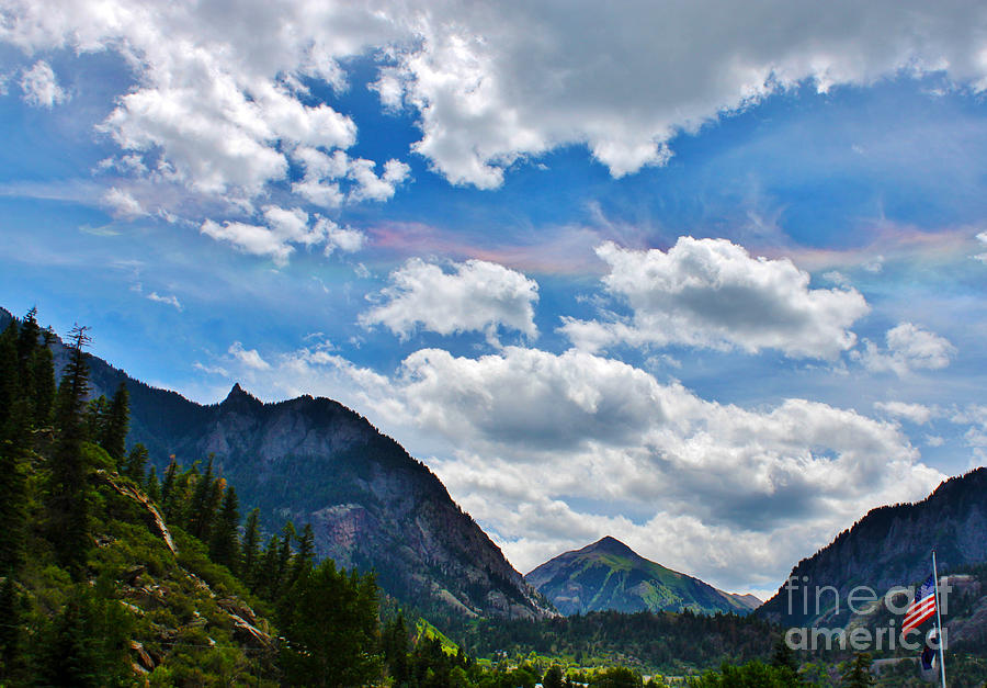 Iridescent Clouds Above Ouray Colorado Photograph