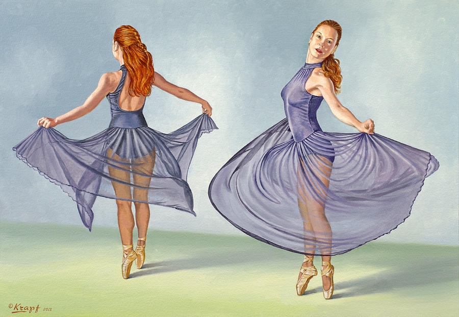 Irina Dancing In Sheer Skirt Painting