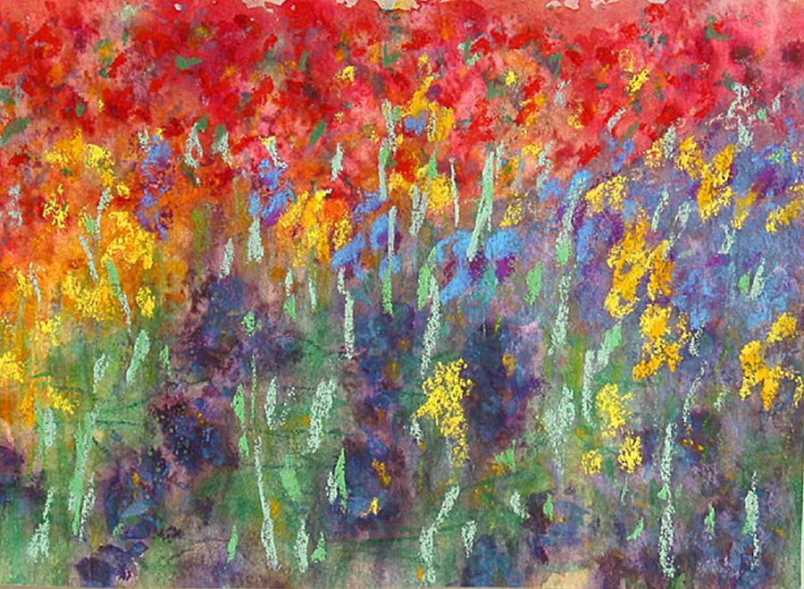 Iris And Bugambilia Painting