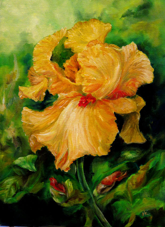 Iris In Bloom 4 Painting  - Iris In Bloom 4 Fine Art Print