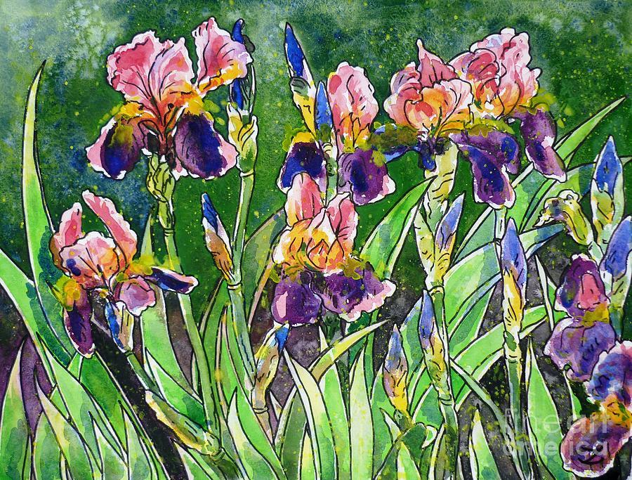 Iris Inspiration Painting
