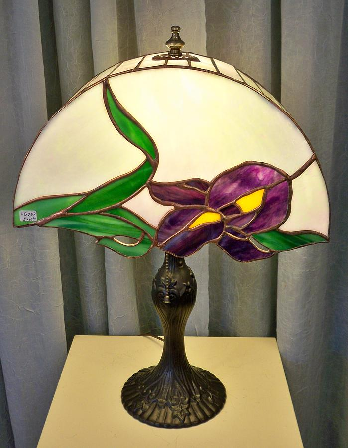 Iris Lamp Glass Art
