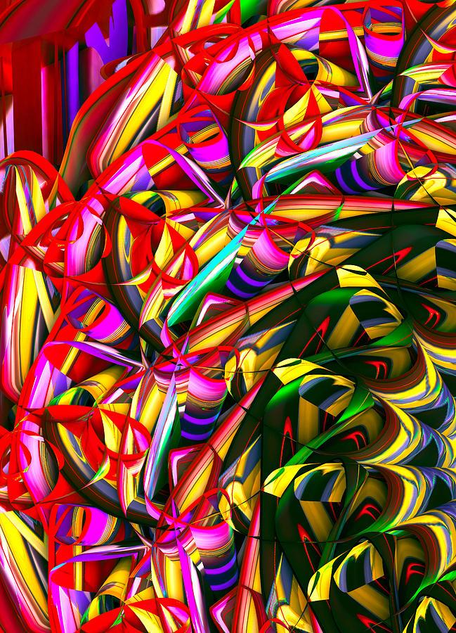 Abstract Digital Art - Iris Wheel by Phill Clarkson