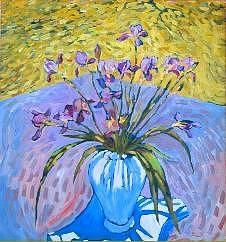 Irises Painting - Irises At Montlake by Herschel Pollard
