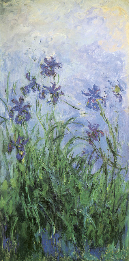 Irises painting by claude monet