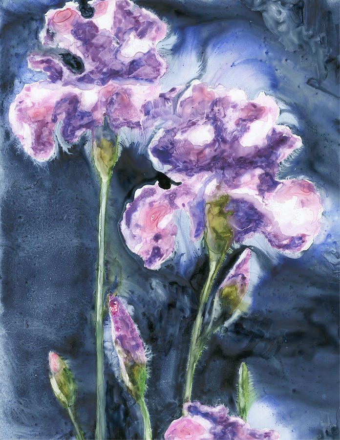 Irises Painting - Irises by Marsha Elliott