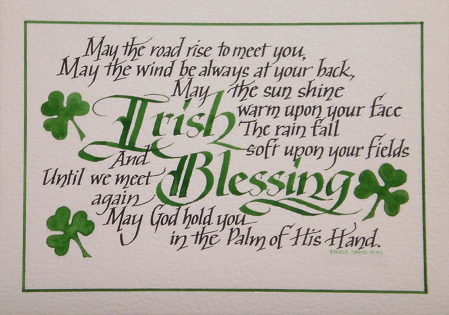 Irish Blessing Horizontal Painting  - Irish Blessing Horizontal Fine Art Print