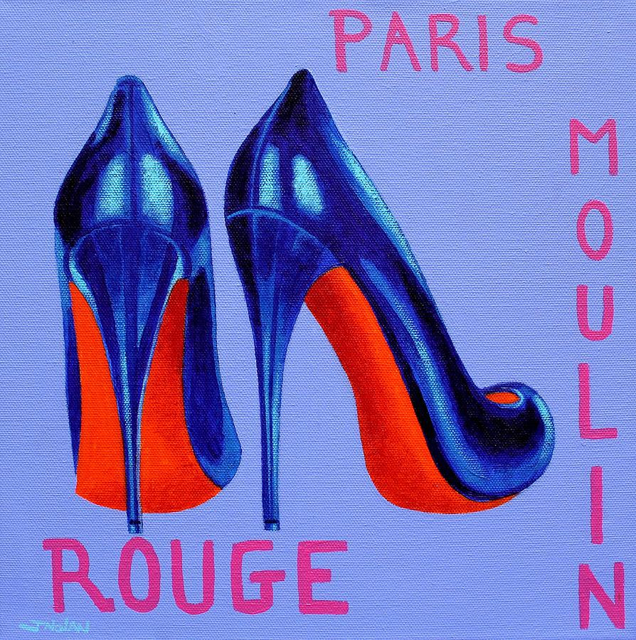 Irish Burlesque Shoes Painting