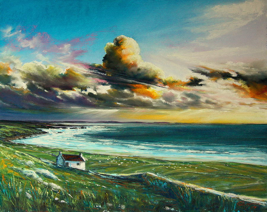 Ireland Pastel - Irish Coastline by Roman Burgan