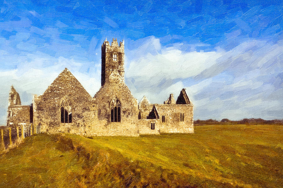 Irish Monastic Ruins Of Ross Errilly Friary Photograph  - Irish Monastic Ruins Of Ross Errilly Friary Fine Art Print