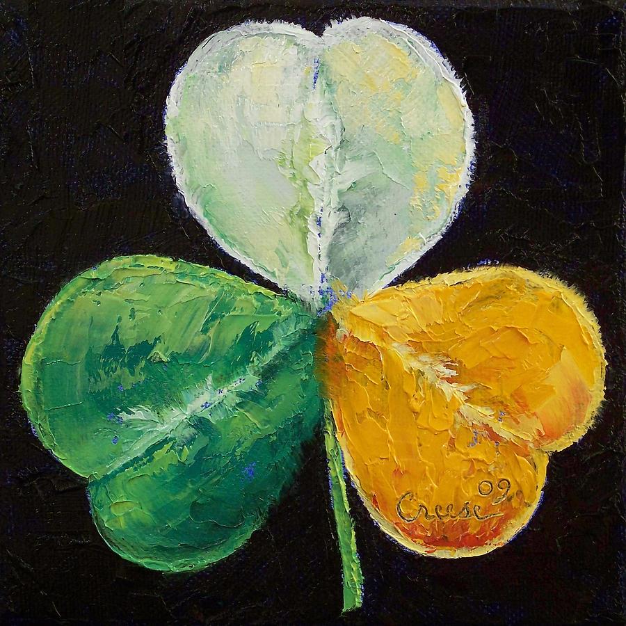 Michael Creese Painting - Irish Shamrock by Michael Creese