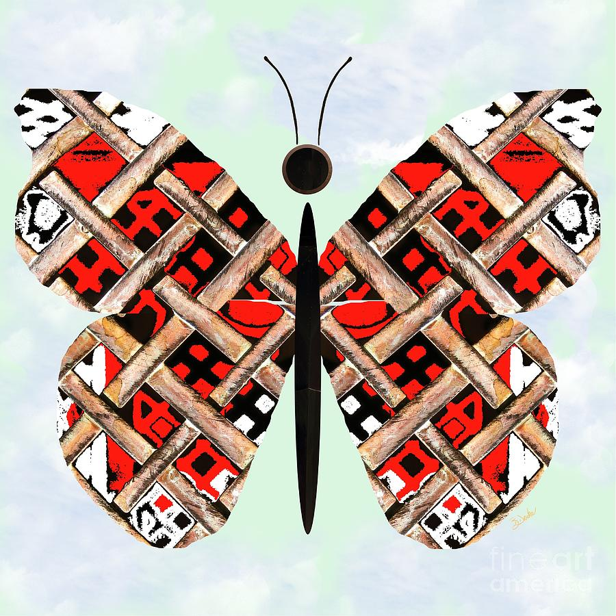 Iron Butterfly Mixed Media  - Iron Butterfly Fine Art Print