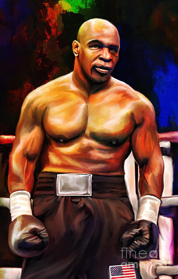 Iron Mike. Painting  - Iron Mike. Fine Art Print