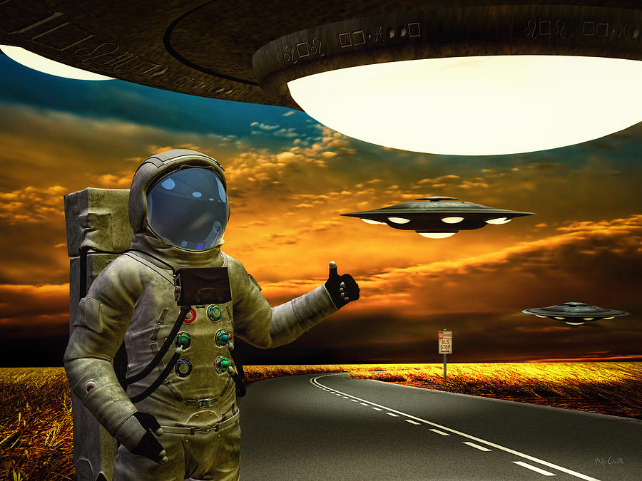 Astronaut Photograph - Ironic Number Four - Hitchhiker by Bob Orsillo