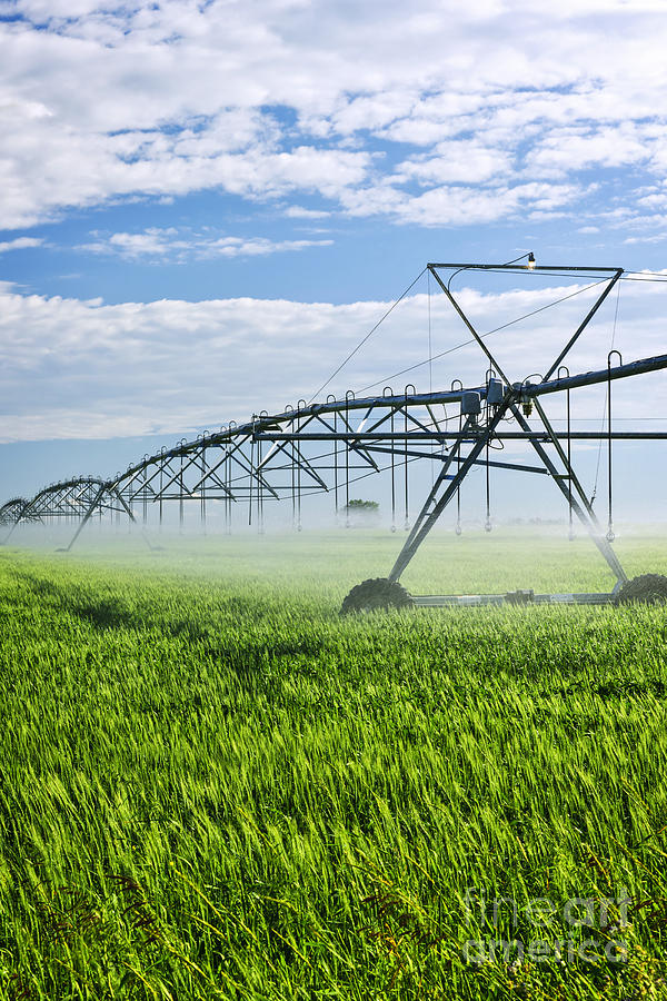 Irrigation Equipment On Farm Field Photograph