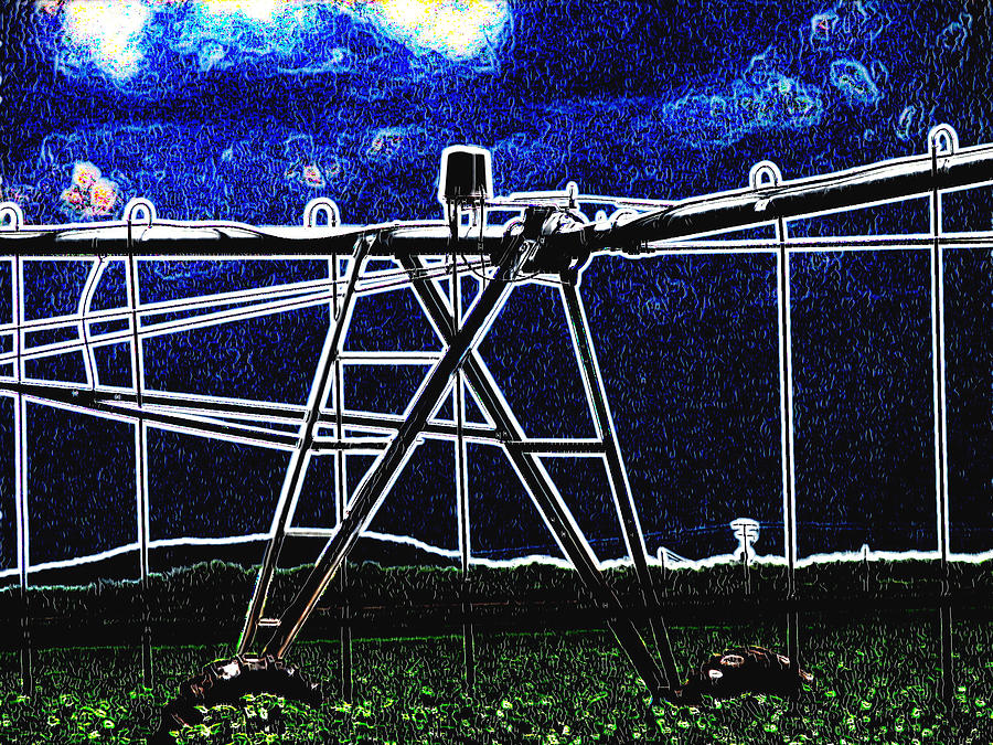 Irrigation Digital Art  - Irrigation Fine Art Print