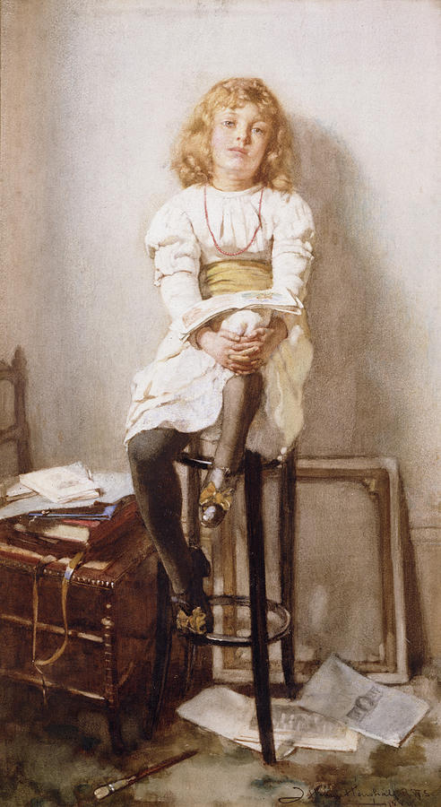 Female Painting - Is It Time by John Henry Henshall