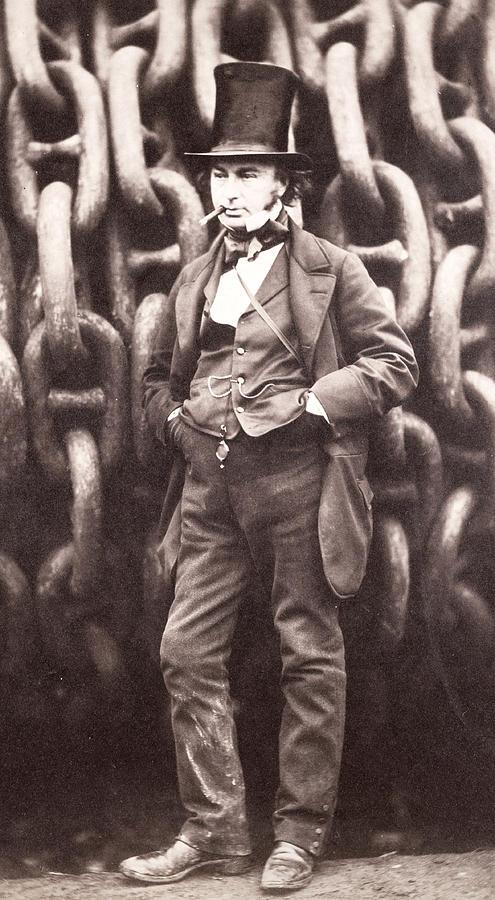 Isambard Kingdom Brunel  Photograph by Robert Howlett