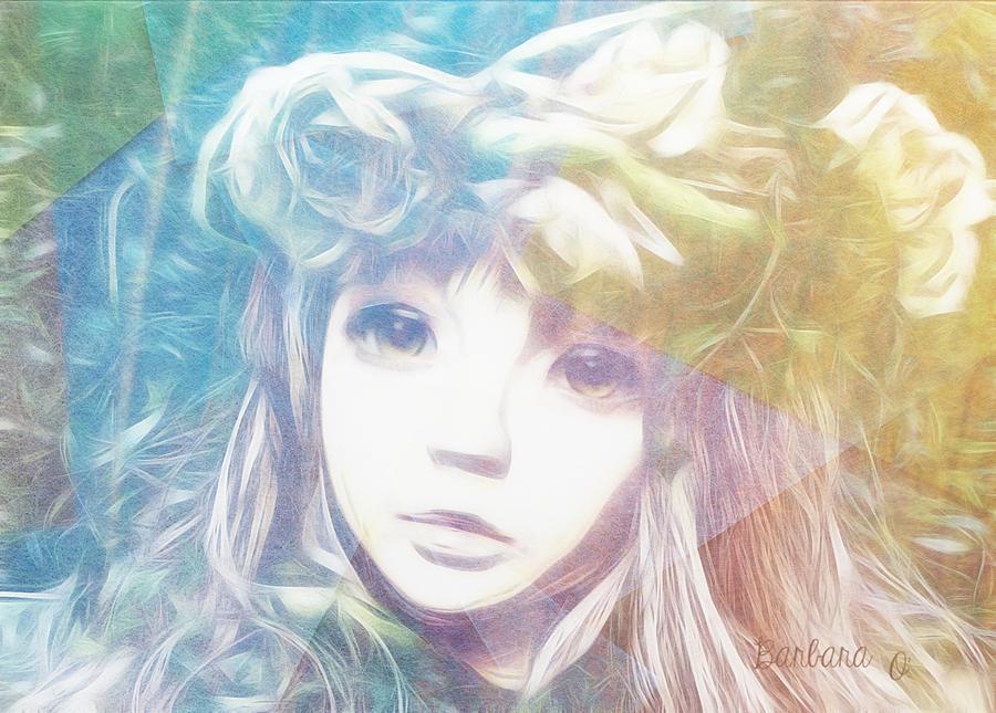 Girl Digital Art - Isangelle Clariscendre by Barbara Orenya