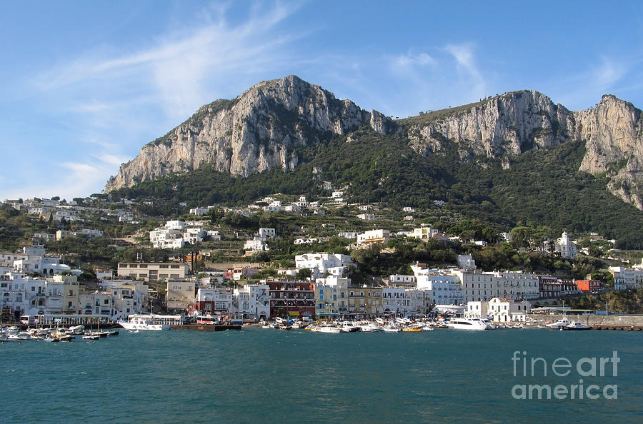 Island Capri Panoramic Sea View Photograph  - Island Capri Panoramic Sea View Fine Art Print