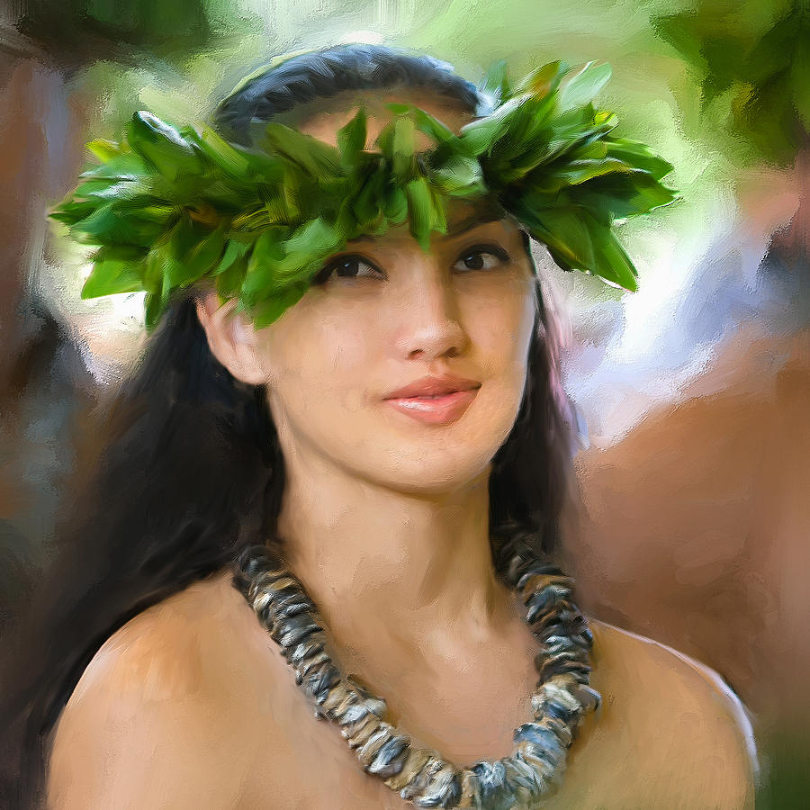 Island Girl Painting By Dominic Piperata