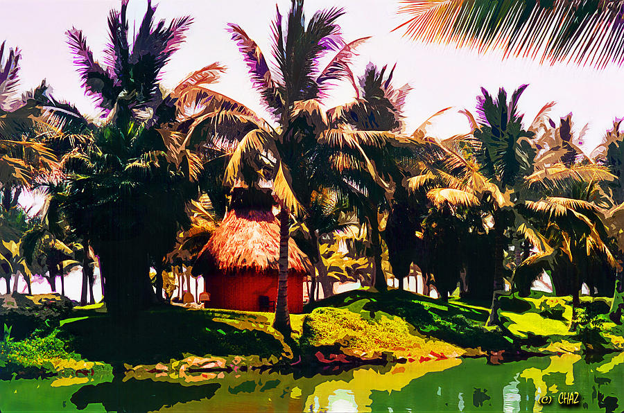 Tropical Island Painting - Island Paradise by CHAZ Daugherty