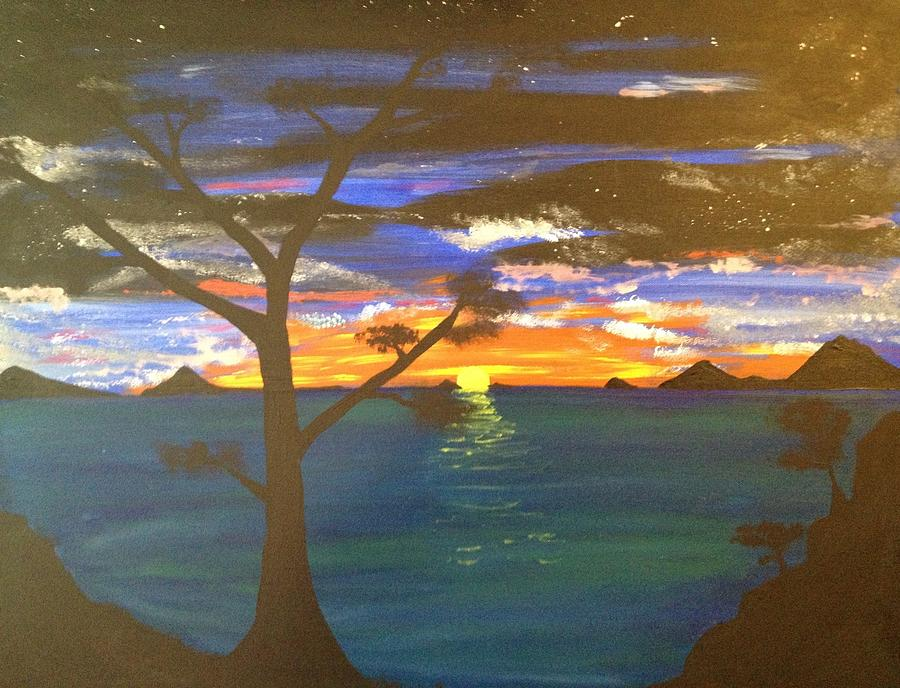 Seascape Painting - Island View by Scott Wilmot