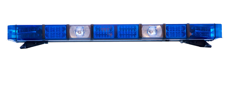 Isolated Police Emergency Light Roof Bar Photograph
