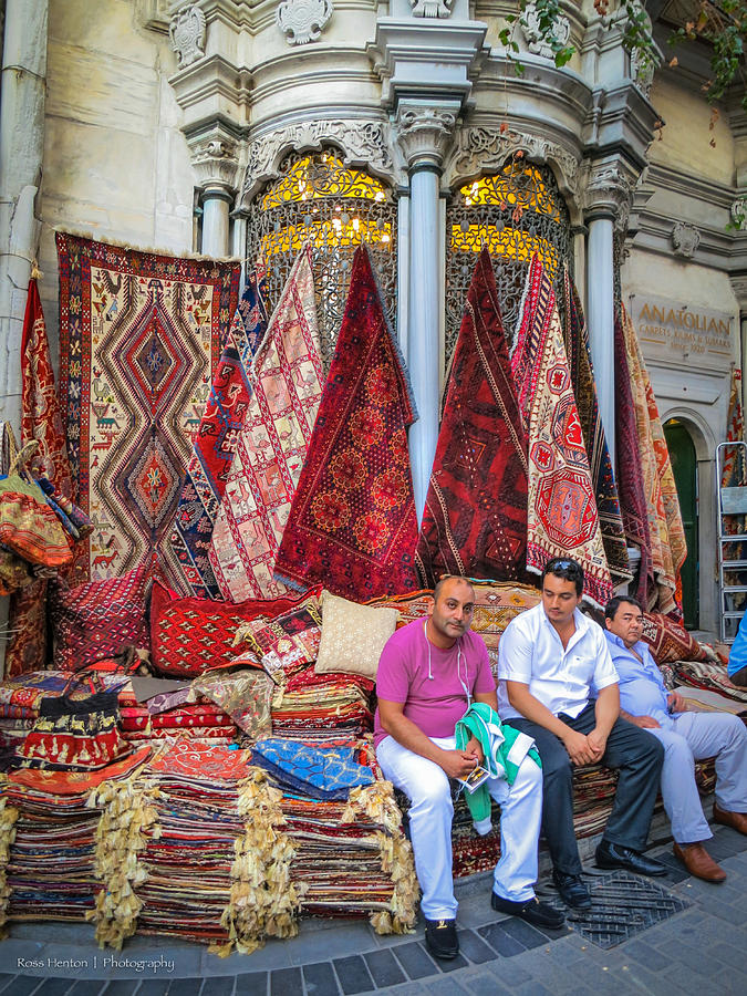 Istanbul Photograph - Istanbul Rug Merchants by Ross Henton