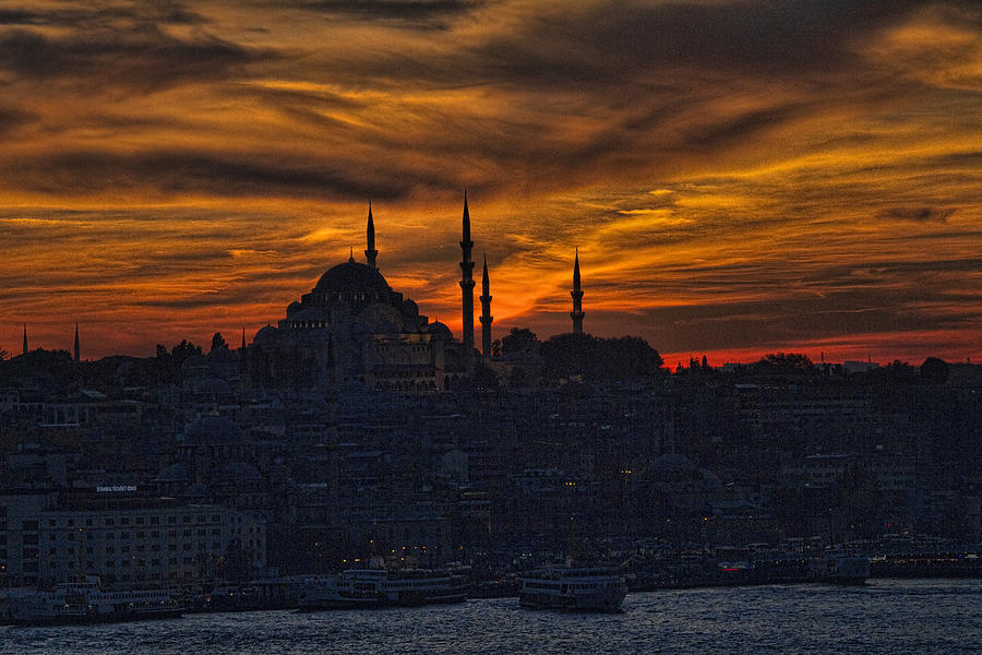 Istanbul Sunset - A Call To Prayer Photograph  - Istanbul Sunset - A Call To Prayer Fine Art Print
