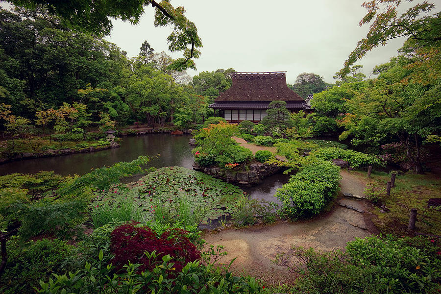 Isuien Garden Tea House - Nara Japan Photograph by Daniel ...