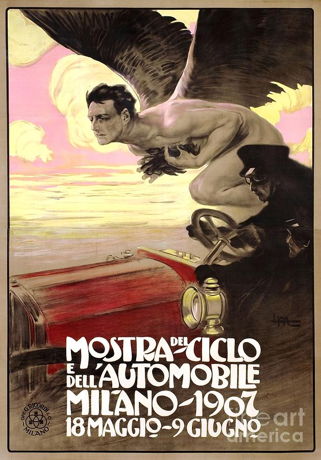 Italian Auto Poster - 1907 by Pg Reproductions