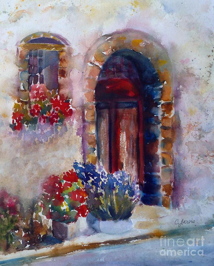 Italian Door Painting By Carolyn Jarvis