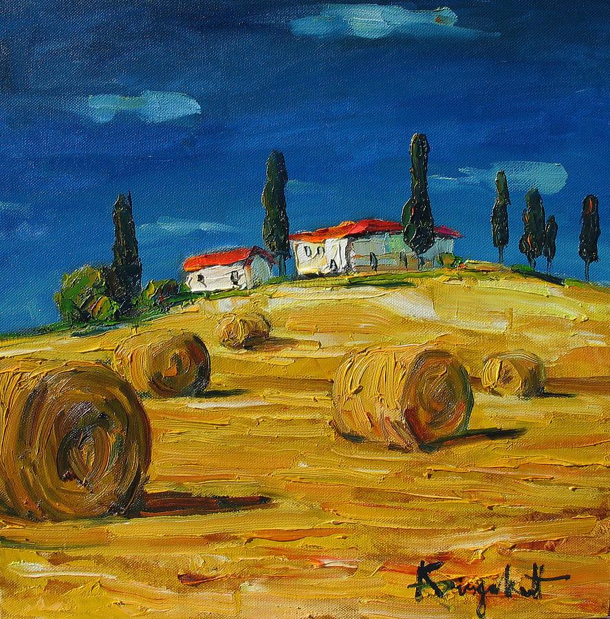 Italian Landscape Painting By Alexei Biryukoff   Italian Landscape .