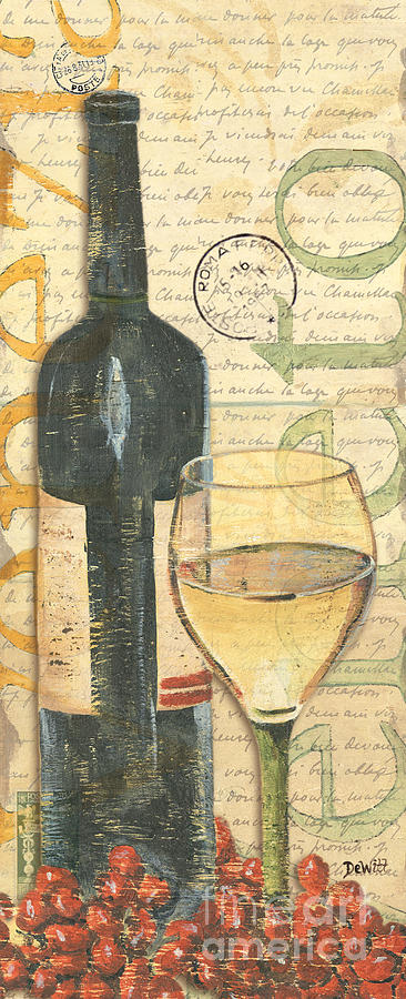 Italian Wine And Grapes 1 Painting