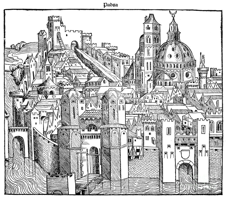 Italy - Padua 1493 Drawing