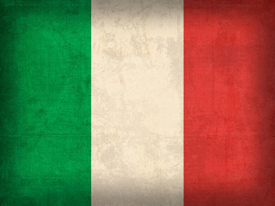 Italy Flag Vintage Distressed Finish Mixed Media  - Italy Flag Vintage Distressed Finish Fine Art Print