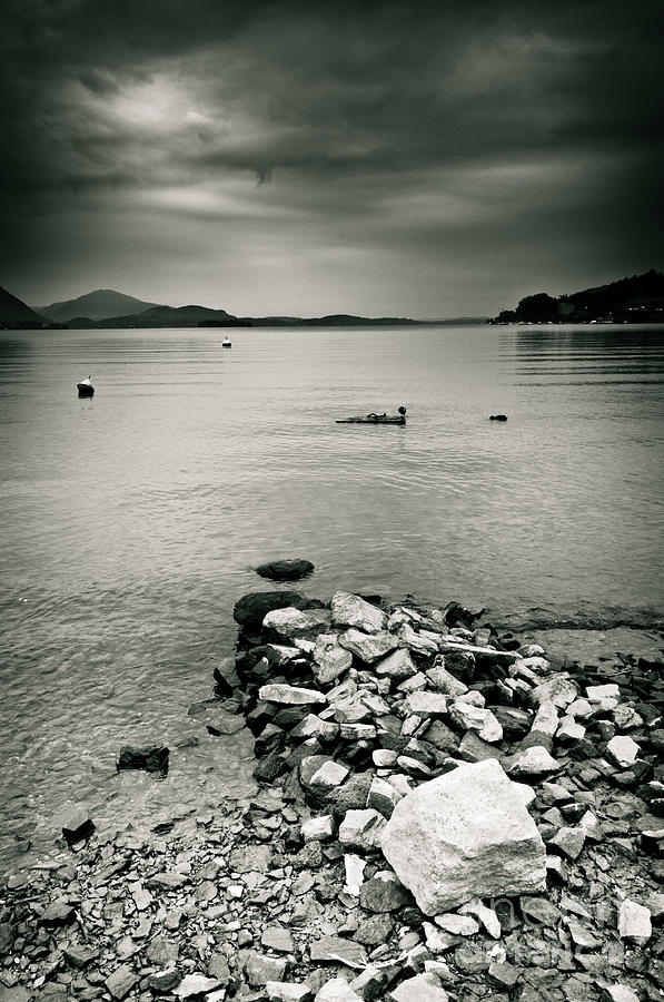 Italy Lake Maggiore Moody View Photograph