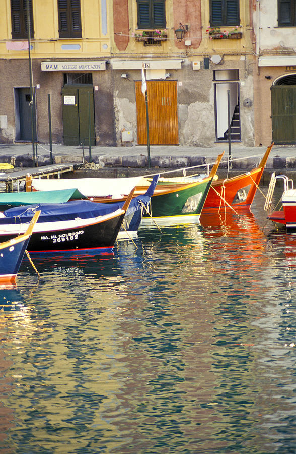 Italy Portofino Colorful Boats Of Portofino Photograph  - Italy Portofino Colorful Boats Of Portofino Fine Art Print